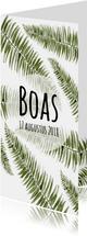 Geboortekaartje botanisch en uniek