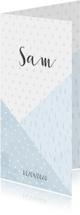 Geboortekaartje confetti en geometrische vormen jongen