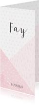 Geboortekaartje geometrische vormen en confetti meisje