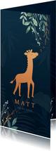 Geboortekaartje giraf koperlook