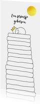 Geboortekaartjes - geboortekaartje jongen prins op de erwt