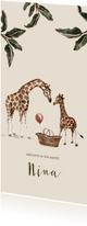 Geboortekaartje jungle grote en kleine giraf