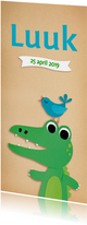 Geboortekaartjes - Geboortekaartje krokodil
