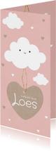 Geboortekaartje langwerpig wolken
