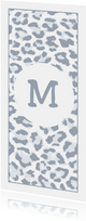 Geboortekaartje lief met panterprint en letter