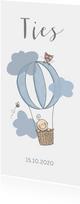 Geboortekaartje luchtballon jongen
