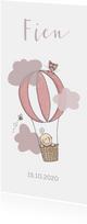 Geboortekaartje luchtballon meisje