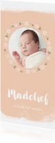 Geboortekaartje madelief met foto