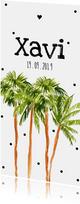 Geboortekaartje palmbomen