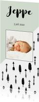 Geboortekaartje scandinavië, aanpasbare kleur