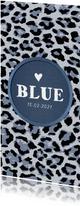 Geboortekaartje stoer met luipaard print