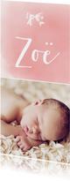 Geboortekaartje_Zoë_SK