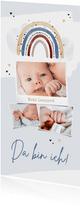 Geburtskarte Fotocollage Regenbogen blau