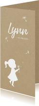 Geburtskarte Mädchen mit Pusteblume Foto innen