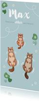 Geburtskarte Otterfamilie 1 Kind