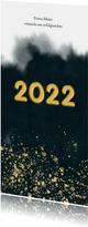 Geschäftliche Neujahrskarte mit Wasserfarbe und Jahreszahl