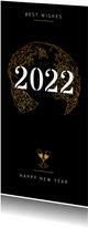 Geschäftliche Neujahrskarte Weltkugel geometrisch