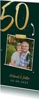 Glückwunschkarte zur goldenen Hochzeit mit Foto