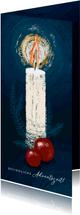 Grußkarte Adventszeit große Kerze