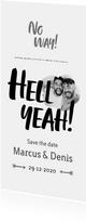 Hell Yeah - een stoere save-the-date kaart met foto