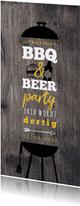Hippe Uitnodiging Houtlook BBQ & BEER feest
