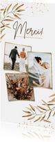 Hochzeits-Dankeskarte feine Zweige