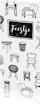 Housewarming uitnodiging hippe meubels
