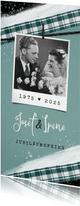 Jubiläumskarte Hochzeitstag vintage mit Foto