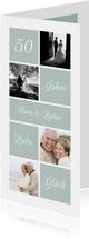 Jubiläumskarte mit Fotos und anpassbarer Zahl