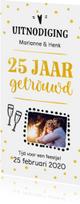 Jubileum - 25 jaar getrouwd langwerpig