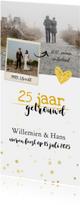 Jubileum - 25 jaar samen foto langwerpig
