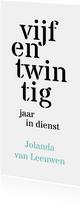 Jubileum 25 medewerker typografisch