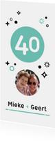 Jubileum 40 jaar getrouwd geometrisch
