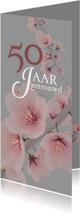 Jubileum 50 jaar getrouwd bloem