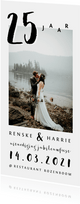 Jubileum uitnodiging huwelijk stijlvol met foto