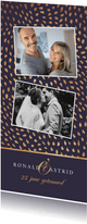 Jubileum uitnodiging stijlvol patroon goud foto's