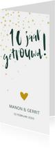 Jubileumkaart '10 jaar getrouwd!' met confetti