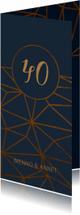 Jubileumkaart 40 jaar geometrisch patroon