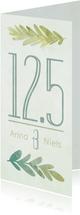 Jubileumkaart botanisch 12,5 jaar