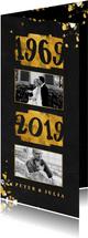 Jubileumkaart goudlook 1969/2019 met foto