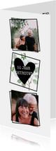 Jubileumkaart met foto's en vierkante vakjes