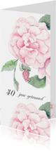 Jubileumkaart romantische roos