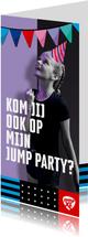 Jump XL uitnodiging JumpParty Meisje