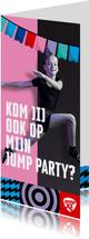 Jump XL uitnodiging kinderfeestje Meisje