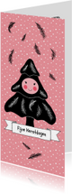 Kerst boompje zwart roze - HR