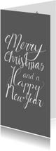 Kerst handlettering merry christmas