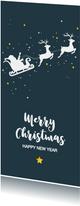 Kerst - Silhouet rendieren met slede