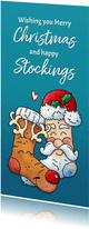 Kerst sokken Kerstman Rendier