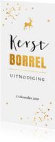 Kerstborrel langwerpig goudlook typografie