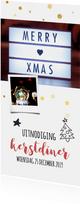 Kerstdiner uitnodiging met foto 2020